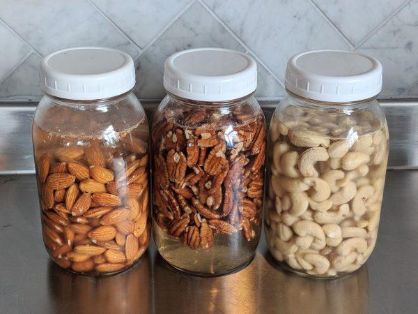 nuts soaking