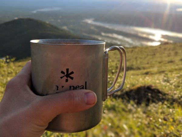 a cup of Instant bullet proof coffee for the backcountry