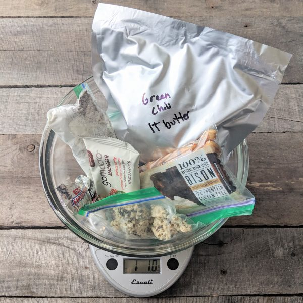 A Day's food Backpacking Food