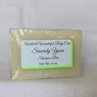 Sincerely Yours Shampoo Bar