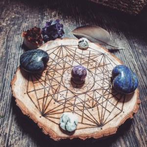 The Seven Chakras Crystal Grid Series