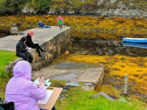 Plein air painting in South Lochs area