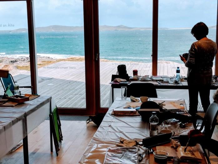 View from studio at Talla Na Mara in Harris