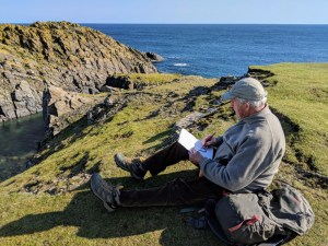Sketching at Butt of Lewis, Isle of Lewis, Scotland