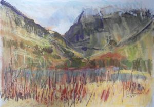 Glencoe, Scotland, plein air landscape painting by Wild at Art tutor Karen Strang