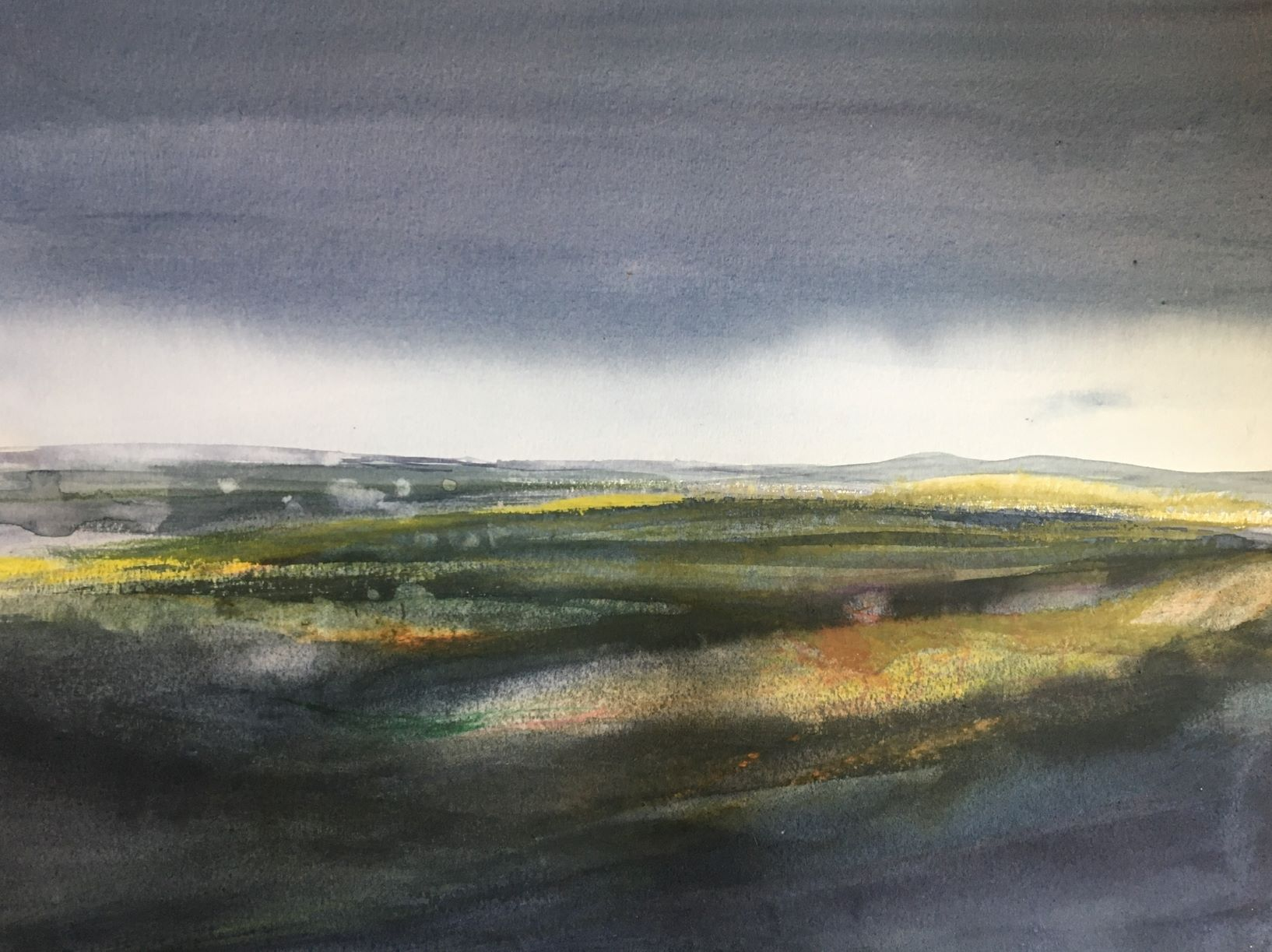 Watercolour landscape painting by Scottish artist Gemma Petrie