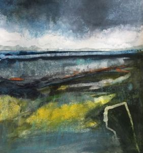 Watercolour landscape by Scottish artist Gemma Petrie