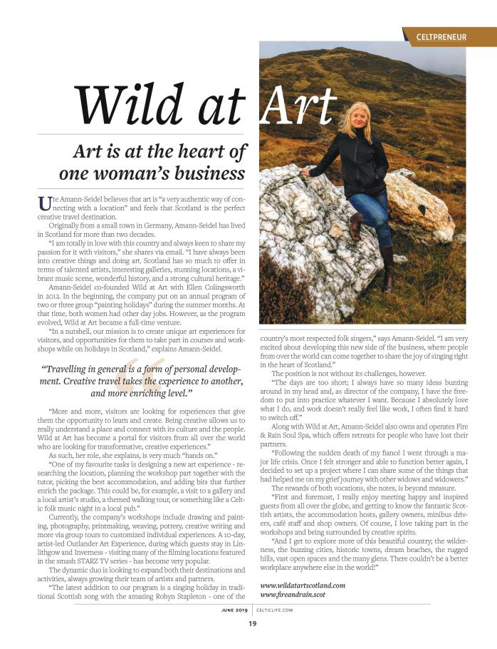Wild at Art in Celtic Life International