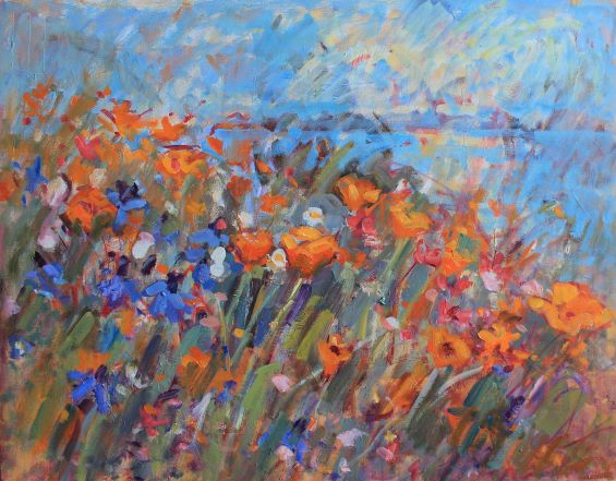 TN 09 wildflowers by the sea 24 x 30