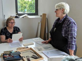 Jan Baxandall at Highland Print Studio