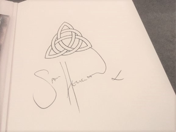 Our handmade sketchbooks signed by Jamie AKA Sam Heughan
