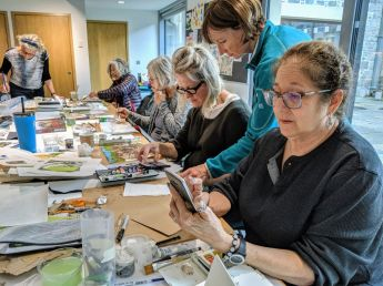 Painting workshop with Nicky Sanderson