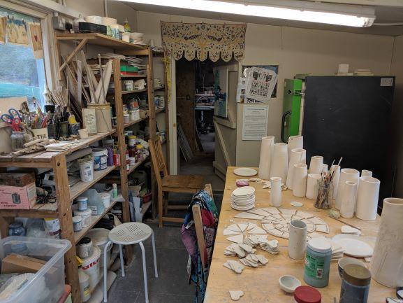 Pottery studio of Michaela Goan
