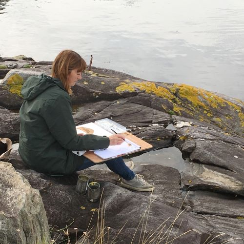 Plein air painting in Kintyre