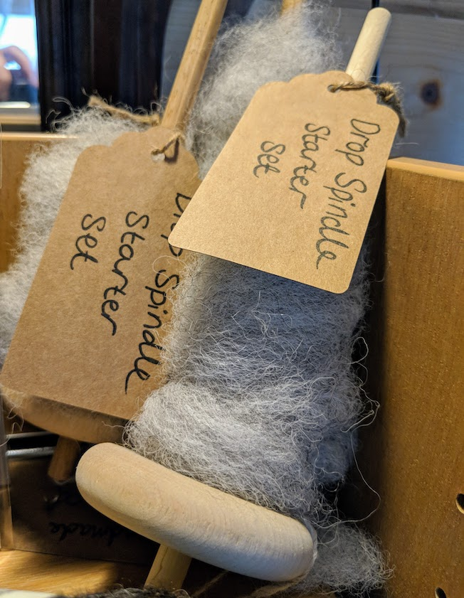 Skye wool spindles
