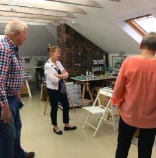 Group at Karen Beauchamp's studio