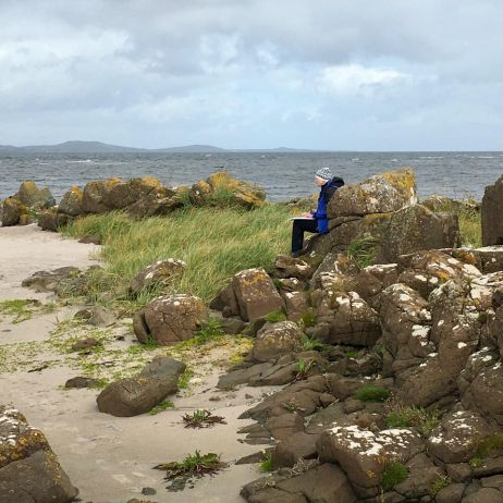 Sketching on the beach in Kintyre