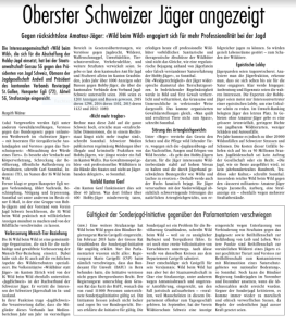 Hanspeter Egli Jagd Schweiz