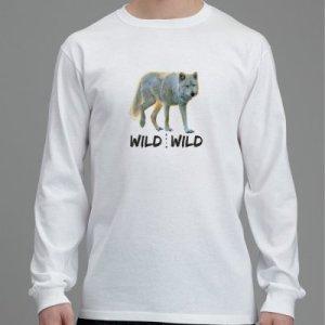 Langärmliges Wolf T-Shirt