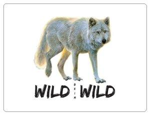 Wild beim Wild Aufkleber Wolf