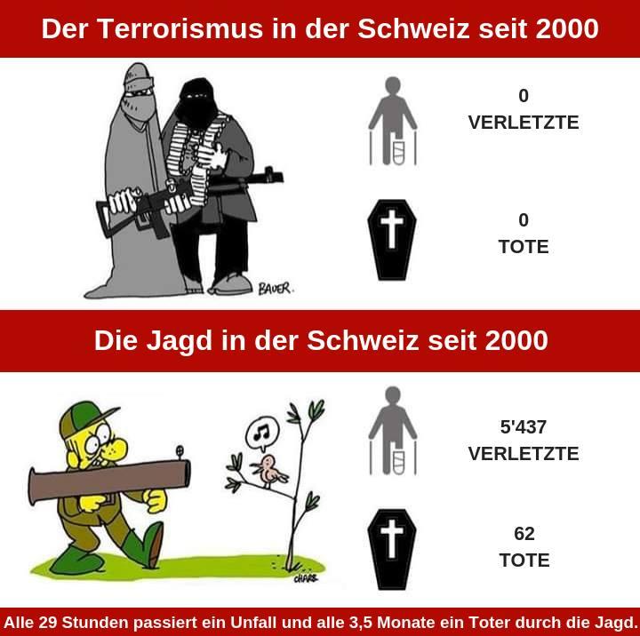 Jagdunfälle Schweiz und Tote