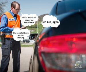 Parkplatz Behinderte Jäger Jagd Schweiz