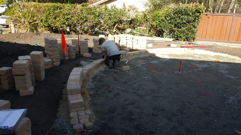 how to build a patio sitting wall