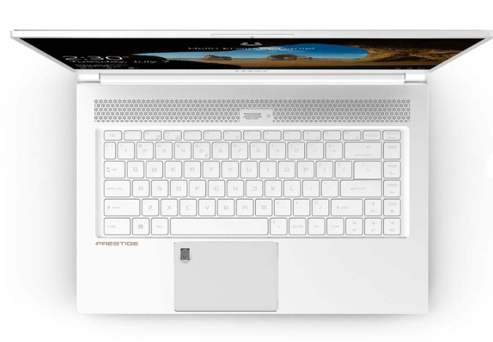 msi p65 creator review of the keyboard layout