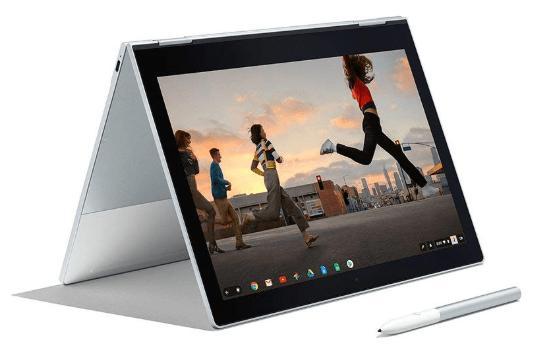 Google Pixelbook in tent mode