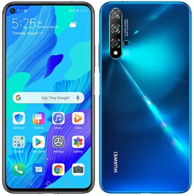 Front and back Huawei Nova 5T. Top-rated for Best Value, latest Huawei smartphones