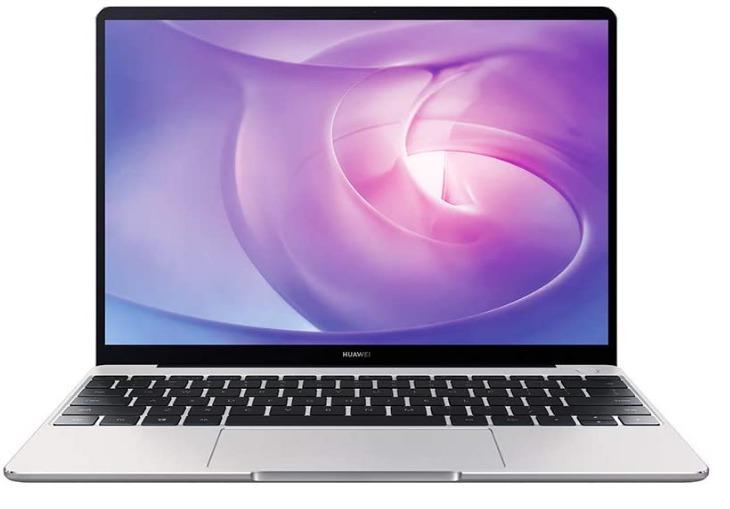 Huawei MateBook laptop, front view of Huawei MateBook 13