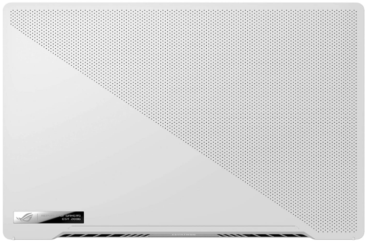 Asus Zephyrus G14 Review of the back facing gaming laptop