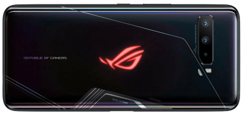 Back view of the ASUS ROG gaming phone 3
