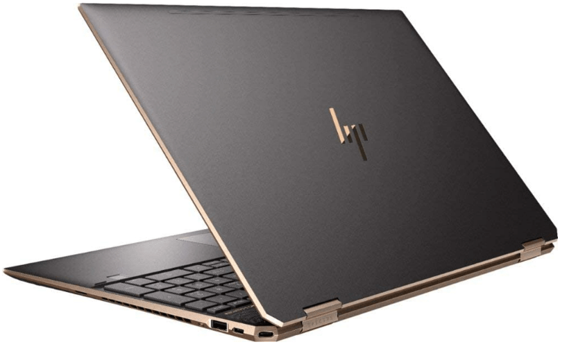 Rear and side view of the HP Spectre X360