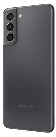Rear view of the Phantom Grey Samsung Galaxy S21 5G