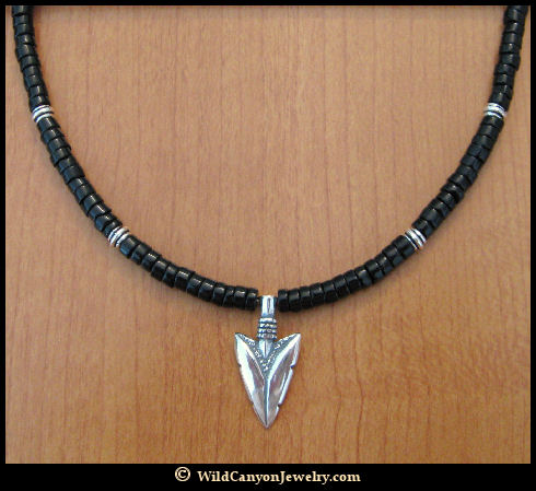 Sterling silver arrowhead pendant necklace style 2 sterling silver arrowhead pendant necklace style 2 aloadofball Gallery
