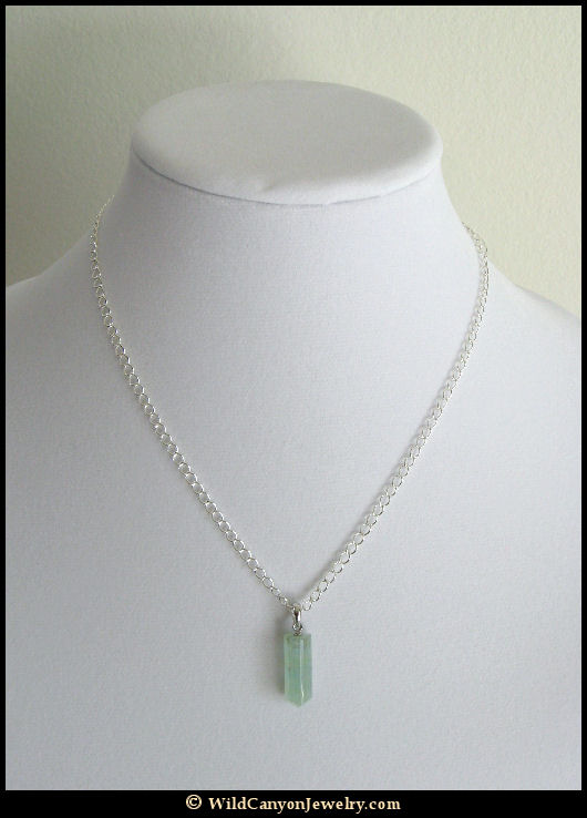 Aquamarine point pendant necklace wildcanyonjewelry aquamarine point pendant necklace aloadofball Image collections