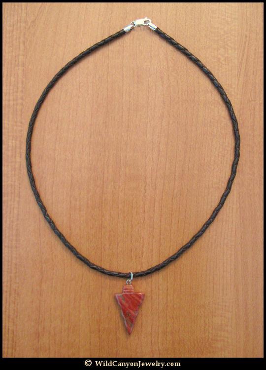 Red jasper arrowhead pendant necklace wildcanyonjewelry red jasper arrowhead pendant necklace aloadofball Images