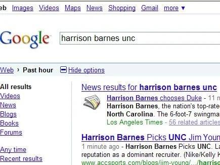 The LA Times picks Duke for Harrison Barnes