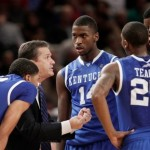 Kentucky Huddle - photo by Kathy Willens   AP