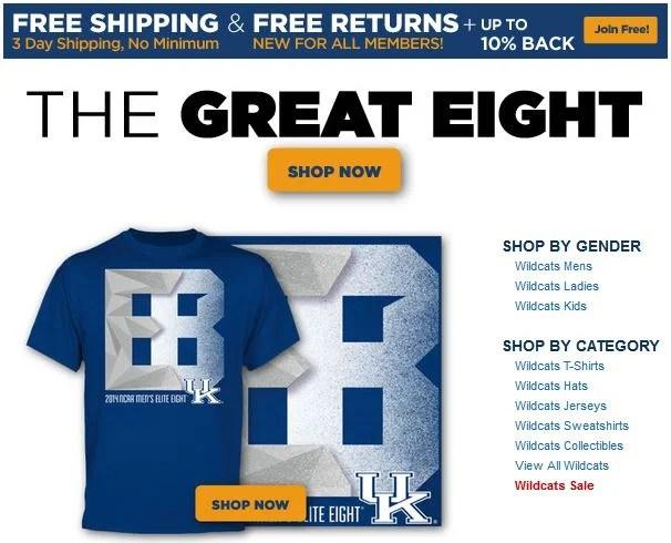 Kentucky Elite Eight T-shirt