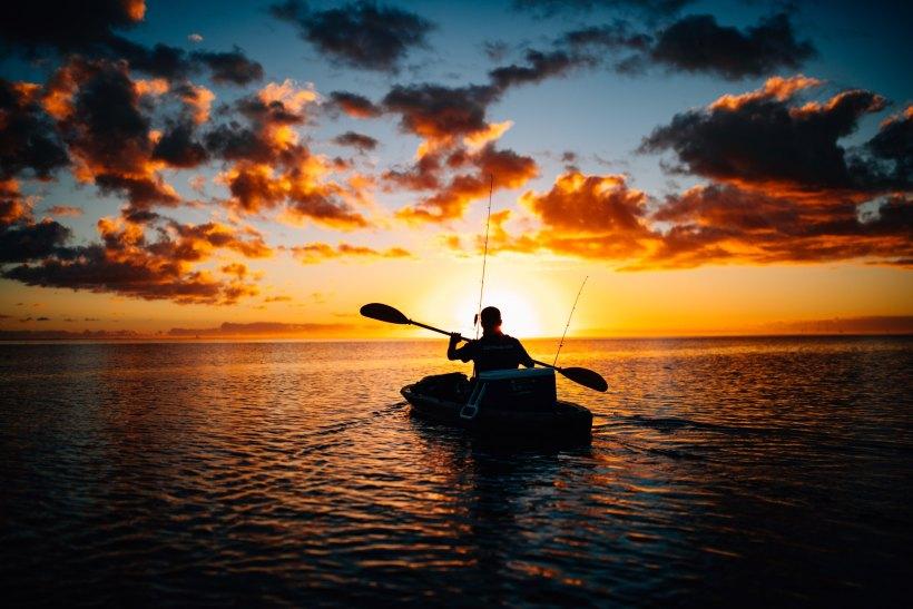 Kayaking at sunset. Visit Crystal River.  Photo credit to Kal Loftus