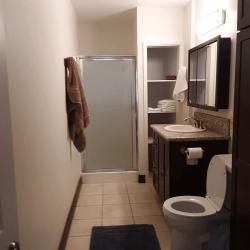 Coastal Hideaway: Downstairs Bathroom
