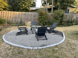 Millay House: Fire Pit and seating