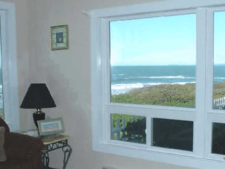 Nesika Beach Cottages Window Ocean View