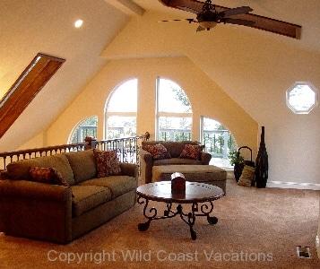 Villa by the Sea living room area
