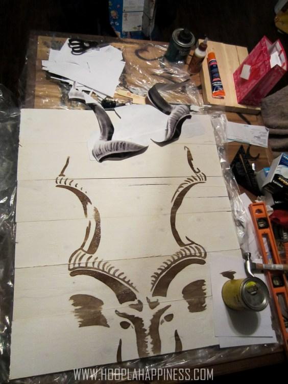 Stain Art #diy #art #craft #hooplahappiness