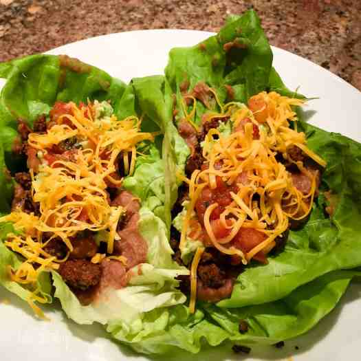 Beef Taco Lettuce Wrap
