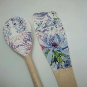 floral spoon set