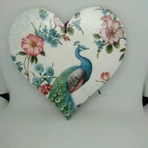 peacock mdf heart